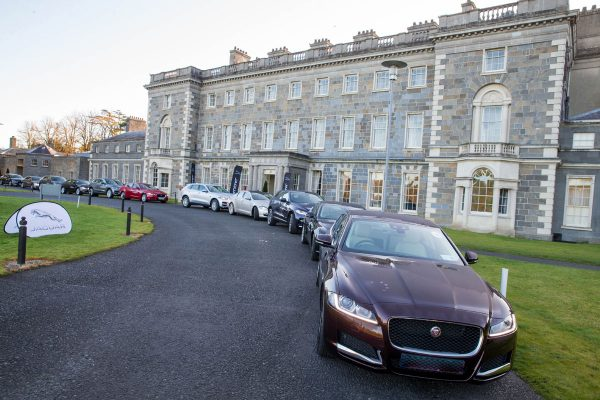 Orangeworks Vehicles on the lawn at Carton House ready for the Advanced driving course for improving driver safety.